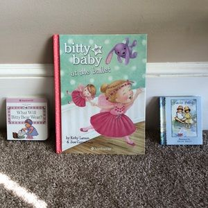 3 American Girl Bitty Baby books